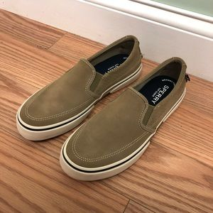 Sperry Slip On Loafers: Tan (PM1574)
